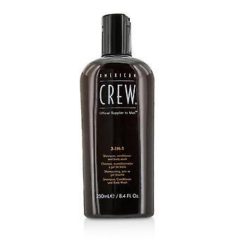 Amerikaanse bemanning mannen 3-IN-1 Shampoo, Conditioner & lichaam wassen 250ml/8.4 oz
