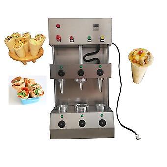 Equipo de máquina de cono de pizza, fabricación industrial comercial y eléctrica