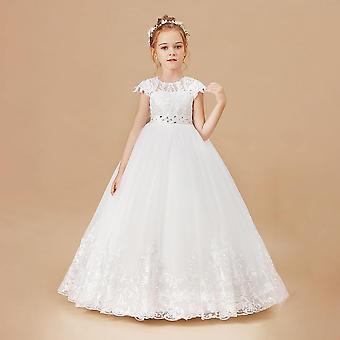 Sleeveless  Appliques Kids Wedding Evening Gowns