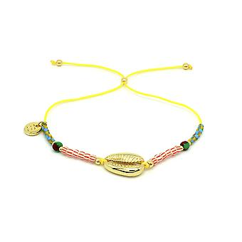 Boho betty amelan multicolour beaded & shell charm bracelet