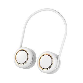 White hanging neck fanheadphone designbladeless fan x466