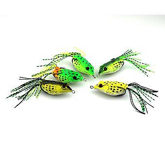 5ks 6CM velká žába Topwater rybářské návnady Crankbaits Háčky Bass Bait Tackle