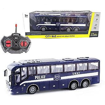 1:16 Radio remote control bus 4ch racing model rc car 27 mhz police bus lights simulation school bus tour bus model toy for kids