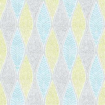 Tempo Green Blue Leaf Wallpaper