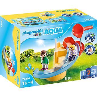 Playmobil 1.2.3 Aqua 70270 vattenrutschbana i 18+ månader