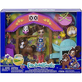 Enchantimals GJX23 Barnyard Nursery Haydie Horse Doll & Trotter