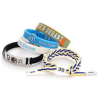 5pcs Silicon Bratara Kevin Durant Baschet Sport Bratara reglabile țesute shoelace brățară