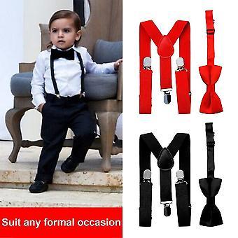 Polyester Kids Design podvazky a bowtie motýlek set odpovídající kravaty oblečení