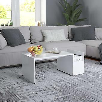 vidaXL table basse blanc 90x45x35 cm panneau de particules