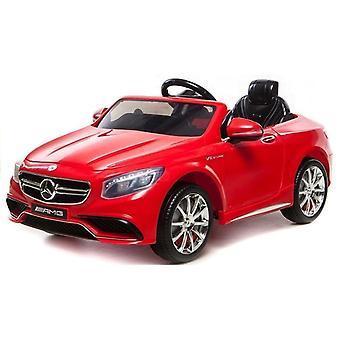 Mercedes S63 AMG elektrisch bestuurbare kinderauto - rood
