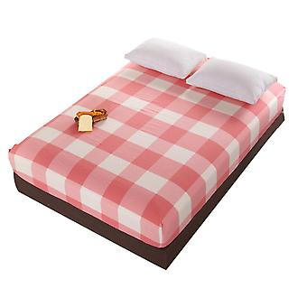 Checkered Simple Comfortable Thicken Printed Washed Cotton Sheets