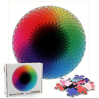 Kreisförmige Regenbogen Puzzle einzigartige Form Puzzle Stücke Erwachsene Kinder Spielzeug Geschenk