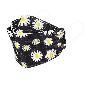 10pcs small daisy 4-layer Protective willow-shaped printed mask