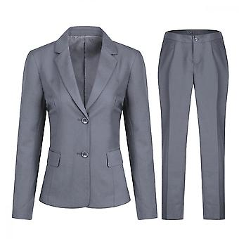 Mile Women's Solid Color Single-breasted Suit (top + Pants), Slim Fit Business Office Graduation Ceremony