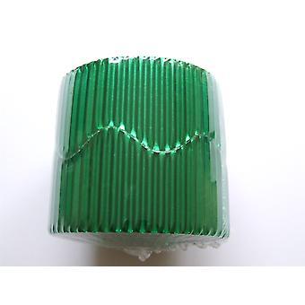 Green 7.5m Metallic Corrugated Card Bordette Classroom Border Display Rolls