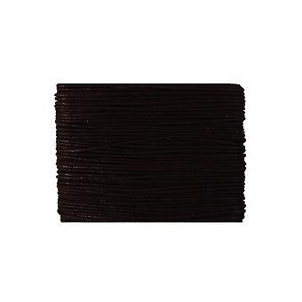20m tummanruskea vahattu puuvilla 1mm string threading käsityöt | Johto & Elastinen