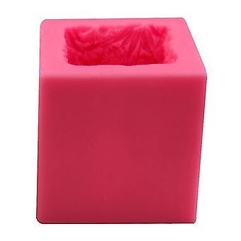 3D zitten angel meisje siliconen zeep mallen vierkante vorm handgemaakte schimmel diy kaars (7,6 * 7,6 * 7.6CM)