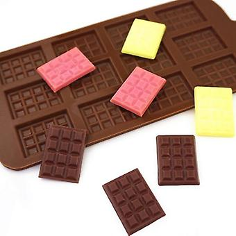 1Pcs silicone mold 12 cells chocolate mold fondant patisserie candy bar mould cake mode decoration kitchen baking accessories