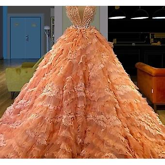 Turkish Tiered Red Carpet Runaway Dress Formal Evening Prom Party Gowns ( Set