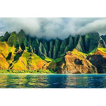 Veggmaleri Na Pali Coast i Kauai, Hawaii