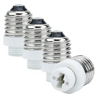 E27 to G9 lamp base adapter in WHITE – 4x lamp adapter for reformatting from E27 to G9