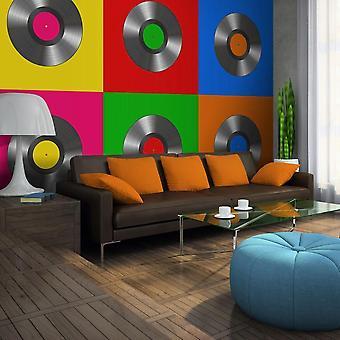 Behang - vinylplaat (popart)