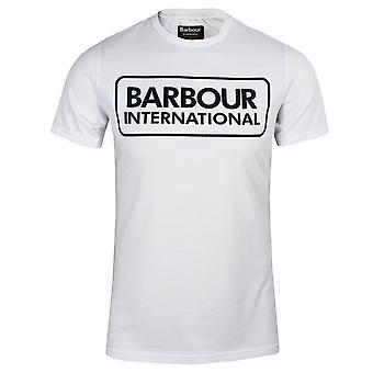 Barbour international men's white large logo t-shirt