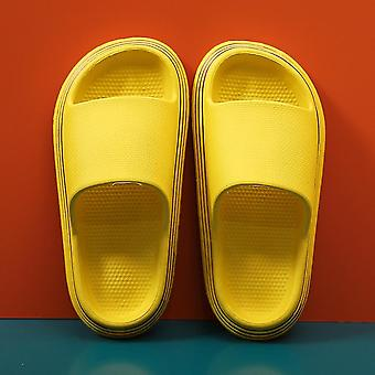 Yellow  36-37 pillow slides slippers home soft thick soled sandals anti slip quick drying shower shoes lc341