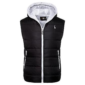 New Winter Jacket Hooded Vest Zipper Sleeveless Casual Waistcoat