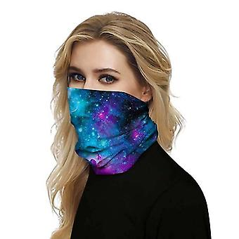 (Galaxy Space) Full Function Face Mask Neck Tube Cycling Snood Scarf Bandana