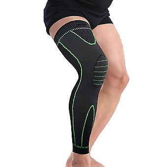 طويل حامي الركبة دعامة الساق الأكمام العجل الركبة دعم الساق حامي الدعامة