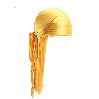 Menins Satin Durags Bandanna Turban Wigs Pirate Hat Men Silky  Headwear