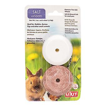 Lixit Salt & Mineral Wheels for Small Pets - 2 Pack - (3 oz Salt Wheel & 3 oz Mineral Wheel)