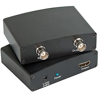 Signal converter from SDI to HDMI, BNC, SDI Loop Out, black