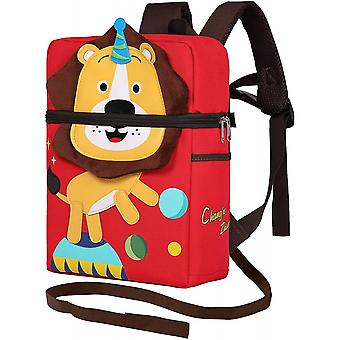 Lion Toddler School Backpack With Leash And Chest Strap