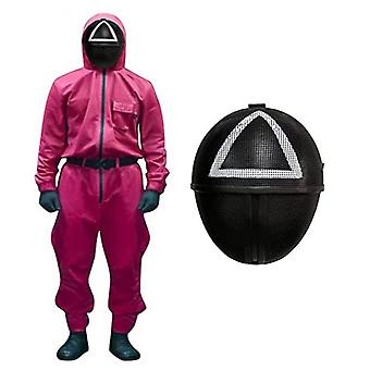 Squid Game Costume Mask, Squid Game Red Jumpsuit Cosplay Halloween Cosplay