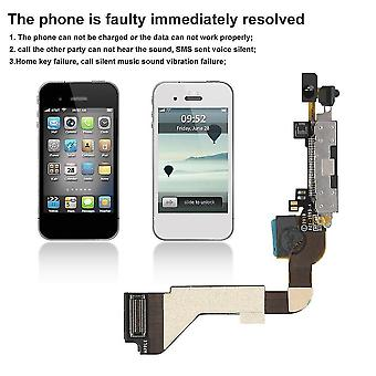 System power cables good quality flex data cable dock connector for iphone 4g black