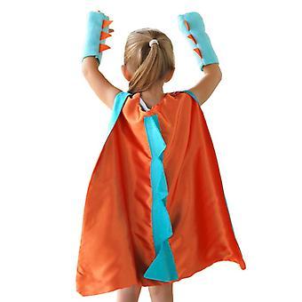 Children's Dinosaur Role Play Clothing Belt Glove Double Color Party Festival Costume Accessories 70cm