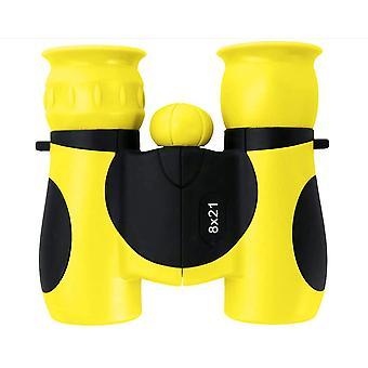 Brinquedo portátil 8 *21 Binóculos para crianças viajando (amarelo)