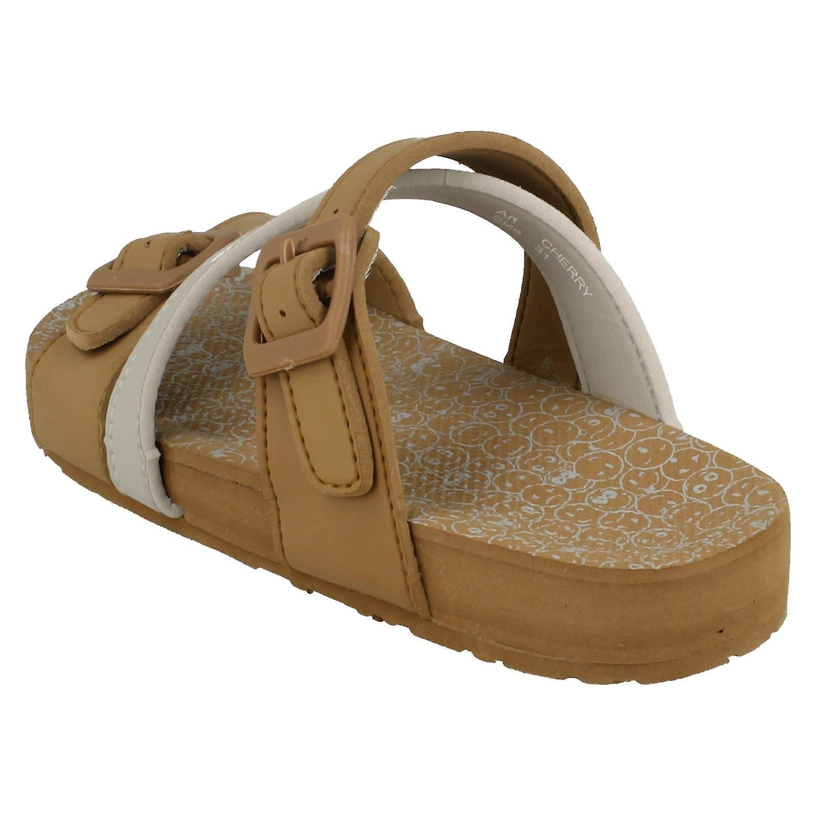 Meisjes Samoa plat gesp Mule sandaal NQsopb