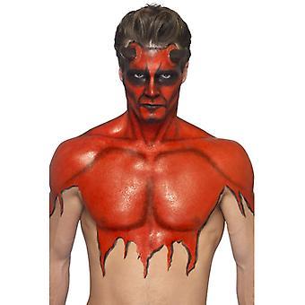 Flytande latex make-up ställa 59 ml röd med murslev smink smink LaTeX