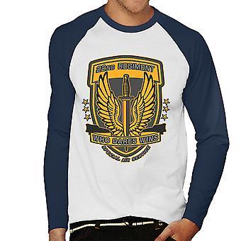 22nd Regiment Insignia COD 4 Modern Warfare Men's Baseball Long Sleeved T-Shirt