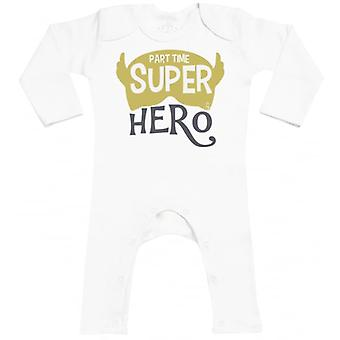 Spoilt Rotten Part Time Super Hero Baby Romper