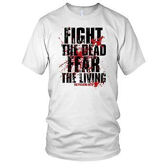 Fight The Dead Fear The Living Walking Dead Zombie Mens T Shirt