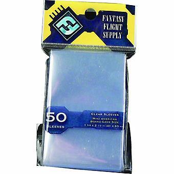 FFG 50 klar mini American Card ærmer 41x63mm-gul label Pack af 50