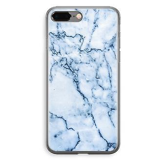 iPhone 8 Plus Transparant Fall (Soft) - blaue Murmel