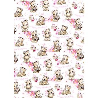Simon Elvin 24 Sheets Cute Female Gift Wraps