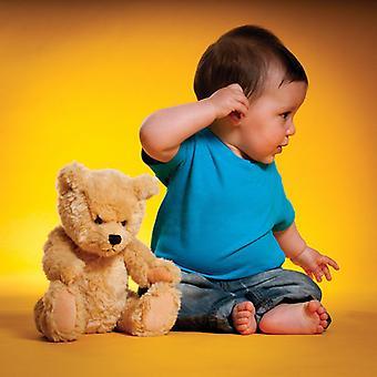 طفل رضيع سيدات لاركوود القطن الأكمام قصيرة ألوان الرقبة طاقم تي شيرت