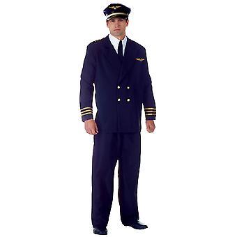 Vol de pilote commandant de bord Aviator hommes luxe uniforme marine Costume XXL Plus