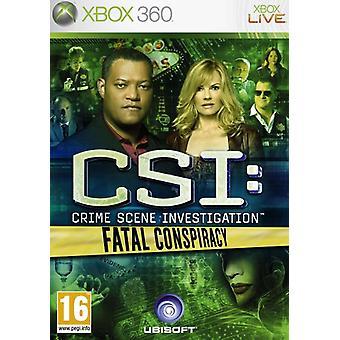 CSI Fatal Conspiracy (Xbox 360) - As New